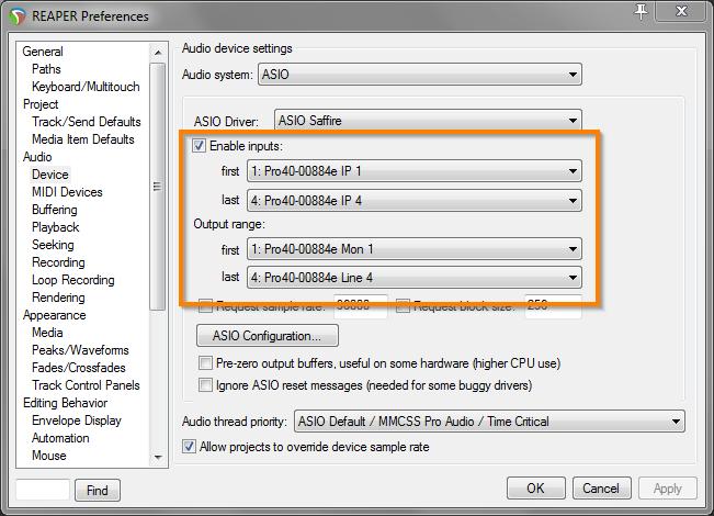 Reaper & Saffire Pro40 – External Hardware Integration | MACHINAE